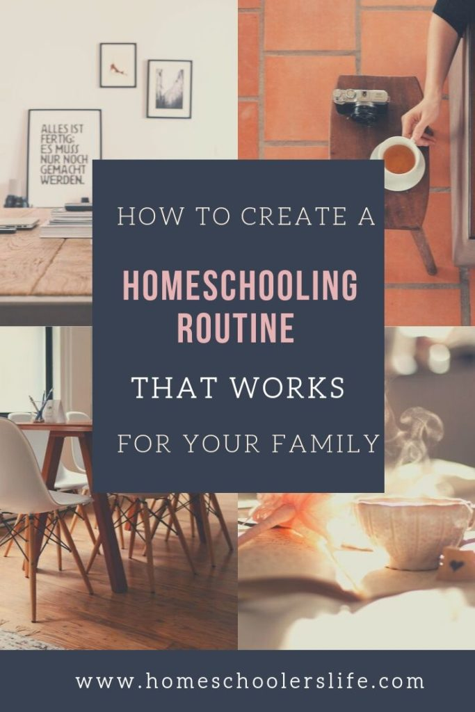 Homeschooling routine