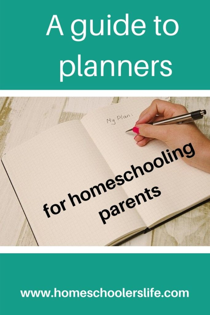 planners for homeschooling
