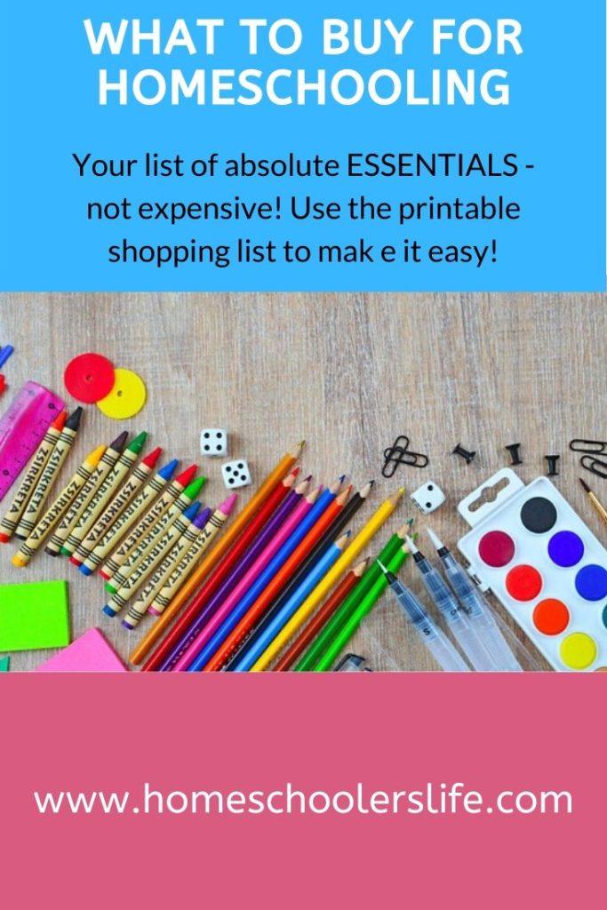 supplies for homeschooling