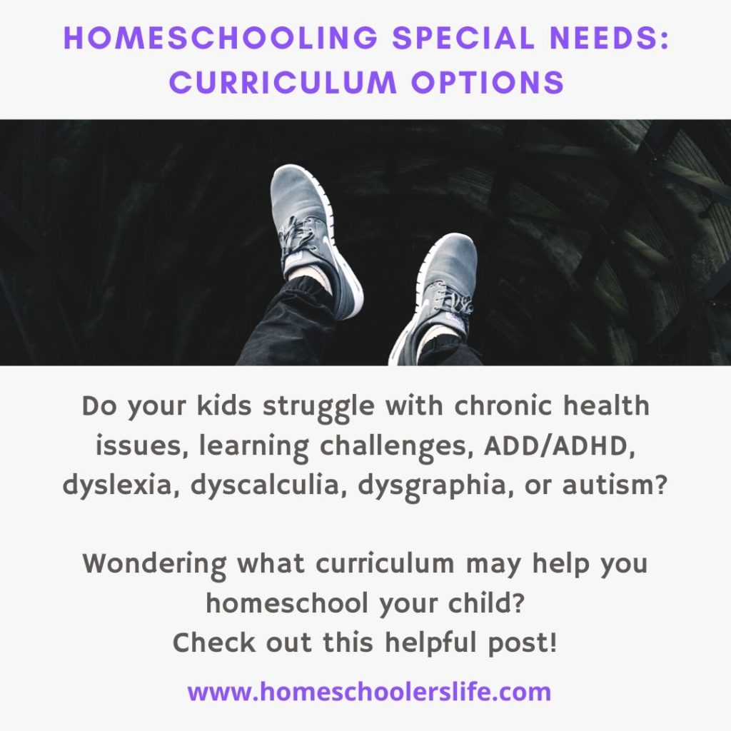 homeschooling special needs curriculum